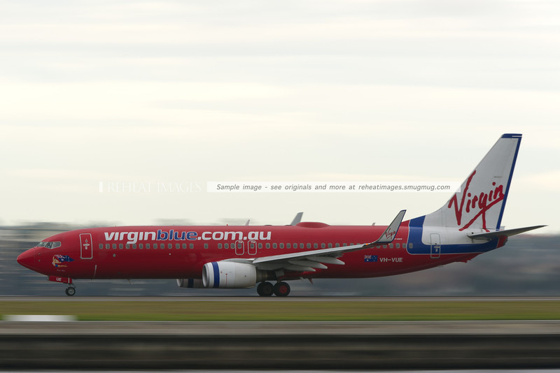 Virgin Blue B737-800 at Sydney airport.