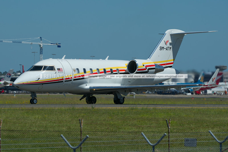 Hornbill Skyways Bombardier Challenger at Sydney airport.