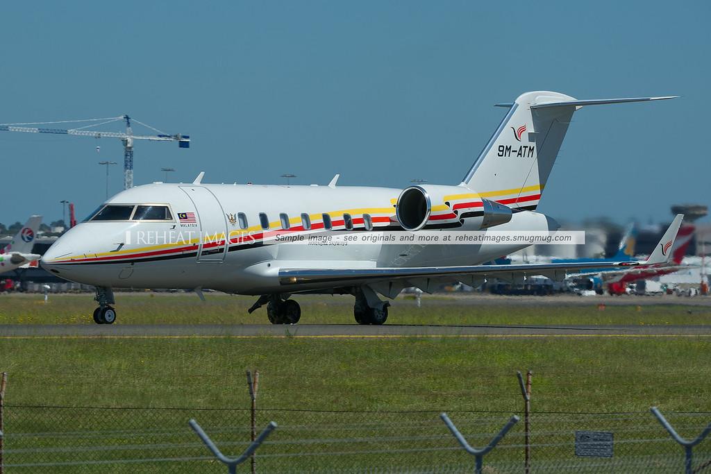 Hornbill Skyways Bombardier Challenger at Sydney airport.