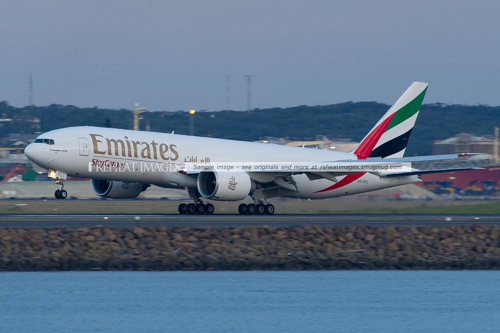 Emirates SkyCargo A6-EFL first visit to Sydney