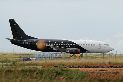 G-ZAPZ Titan Airways Boeing 737-33A(QC) cn 25401 @ Exeter Airport / EGTE 01.07.14
