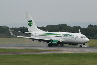 D-AGEP Germania Boeing 737-75B(WL) cn 28102 @ Manchester Airport / EGCC 01.08.14