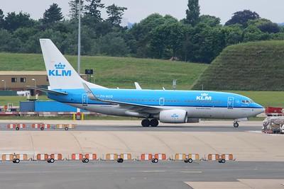 "PH-BGQ / GQ-213 ""Wielewaal / Golden Oriole"" KLM Royal Dutch Airlines Boeing 737-7K2(WL) cn 39256 @ Birmingham Airport / EGBB 18.06.16"