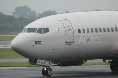 "LN-TUF ""Tyra Haraldsdatter"" SAS Scandinavian Airlines Boeing 737-705 cn 28222 @ Manchester Airport / EGCC 01.08.14"