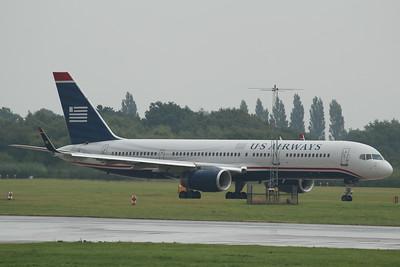 N939UW US Airways Boeing 757-2B7(WL) cn 27303 @ Manchester Airport / EGCC 01.08.14