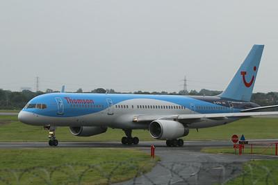 G-CPEV Thomson Airways Boeing 757-236(WL) cn 29943 @ Manchester Airport / EGCC 01.08.14