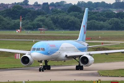 G-BYAY Thomson Airways Boeing 757-204(WL) cn 28836 @ Birmingham Airport / EGBB 18.06.16
