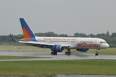G-LSAC Jet2 Boeing 757-23A(WL) cn 25488 @ Manchester Airport / EGCC 01.08.14