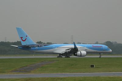 G-OOBA Thomson Airways Boeing 757-28A(WL) cn 32446 @ Manchester Airport / EGCC 01.08.14