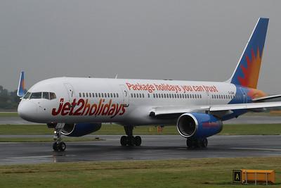 G-LSAK Jet2 Boeing 757-23N(WL) cn 27973 @ Manchester Airport / EGCC 01.08.14