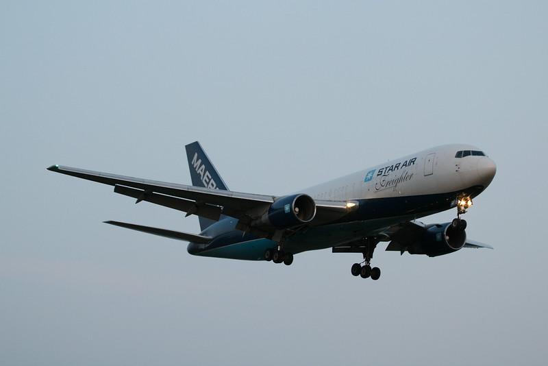 OY-SRF Star Air Boeing 767-219(BDSF) c/n 23327 @ East Midlands Airport / EGNX 30.07.14
