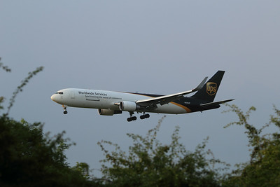 N335UP United Parcel Service (UPS) Boeing 767-34AF(ER)(WL) c/n 37856 @ East Midlands Airport / EGNX 31.07.14