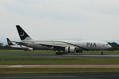 AP-BGL PIA Pakistan International Airlines Boeing 777-240(ER) c/n 33777 @ Manchester Airport / EGCC 01.08.14