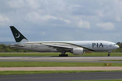 AP-BGY PIA Pakistan International Airlines Boeing 777-240(LR) c/n 33781 @ Manchester Airport / EGCC 26.04.14