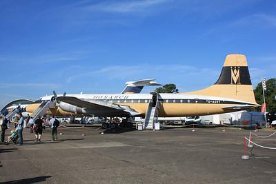 G-AOVT Monarch Airlines Bristol 175-312 Britannia cn 13427 @ Duxford 08.09.12
