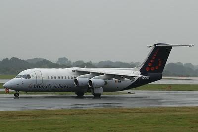 OO-DWL Brussels Airlines British Aerospace Avro RJ100 cn E3361 @ Manchester Airport / EGCC 01.08.14