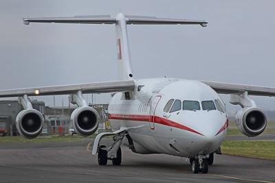 A6-AAB Abu Dhabi Amiri Flight British Aerospace Avro RJ100 cn E3387 @ Exeter Airport / EGTE 09.02.15