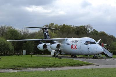 G-IRJX BAe Systems British Aerospace Avro RJX100 cn E3378 @ Manchester Airport Viewing Area 26.04.14