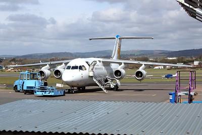 SE-DJN Malmo Aviation British Aerospace Avro RJ85 cn E2231 @ Exeter Airport / EGTE 02.04.16