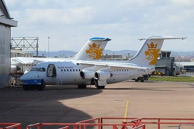 SE-DJO Malmo Aviation British Aerospace Avro RJ85 cn E2226 @ Exeter Airport / EGTE 02.04.16