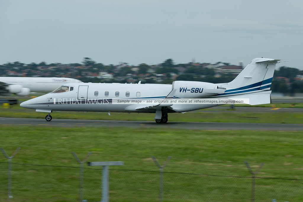 A Bombardier LearJet 60 at Sydney airport.