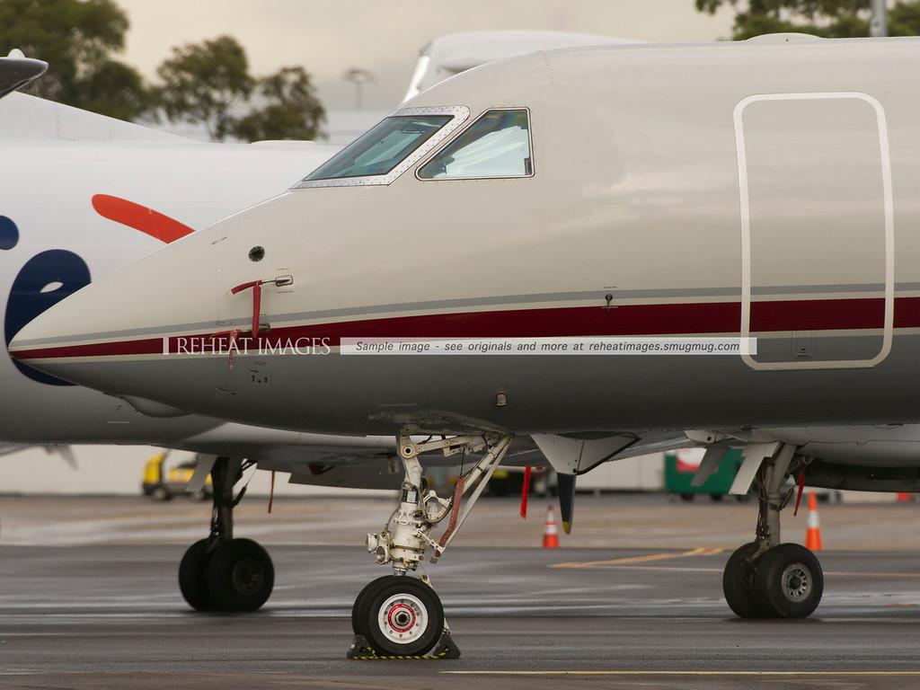 Gulfstream G550 N92LA at Sydney airport.