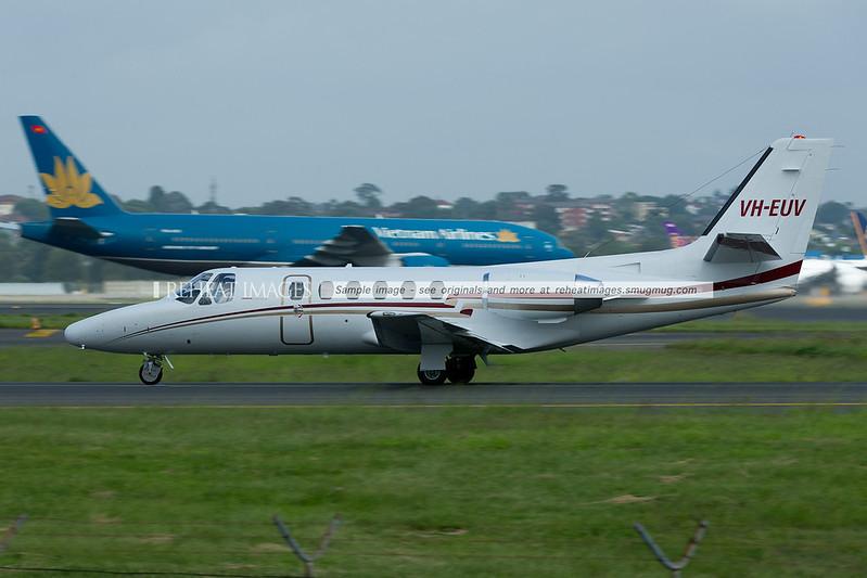 Cessna Citation II 550 at Sydney airport.