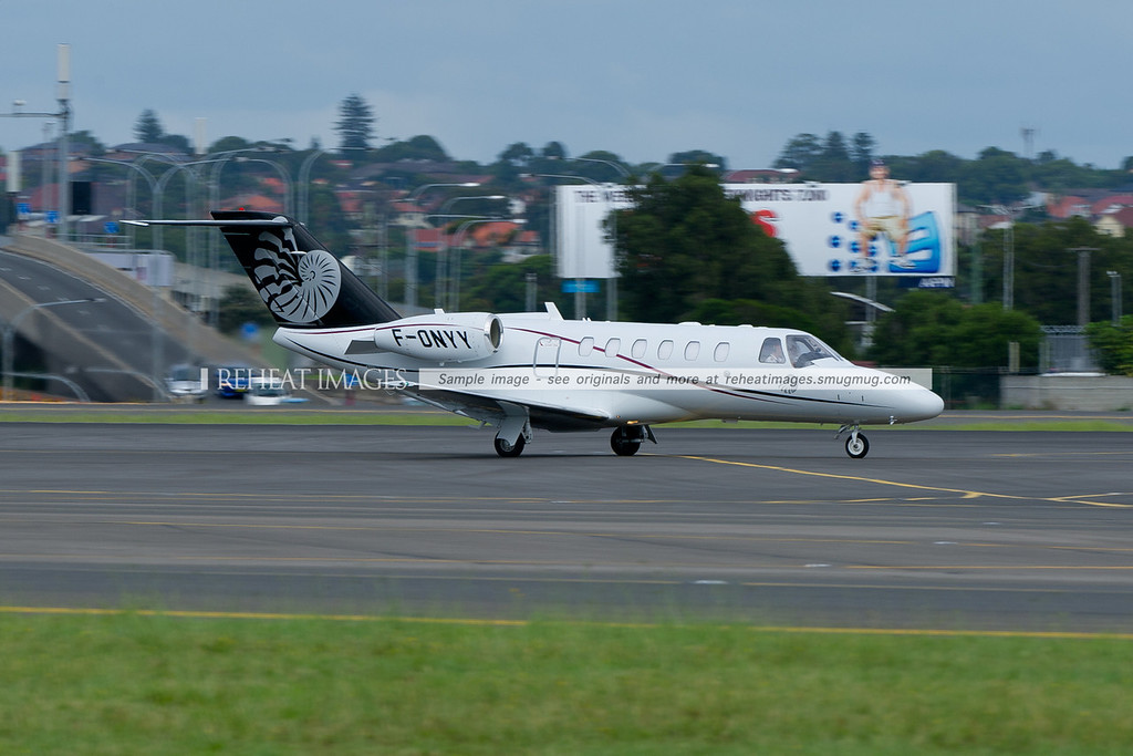 Cessna F-ONYY arrives in Sydney.