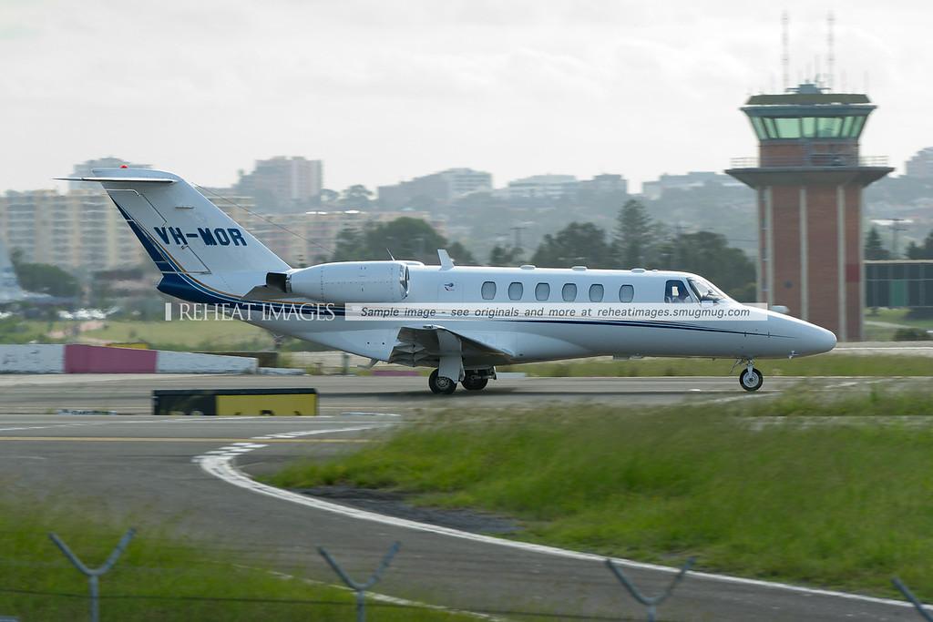 Cessna 525A Citation CJ2 at Sydney airport.