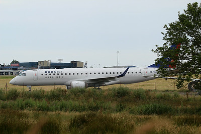 TC-YAH Borajet Embraer ERJ-190LR cn 19000264 @ Exeter Airport / EGTE 01.07.14