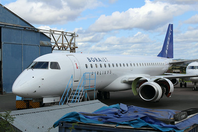 TC-YAI Borajet Embraer ERJ-190LR cn 19000201 @ Exeter Airport / EGTE 22.08.14