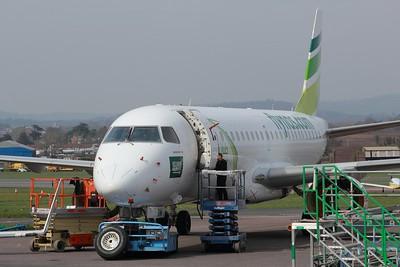 VP-CQW flynas Embraer ERJ-190LR cn 19000232 @ Exeter Airport / EGTE 10.04.15