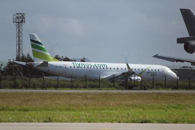 VP-CQX Ex-flynas Embraer ERJ-190LR cn 19000233 @ Newquay Airport / EGDG 06.05.14