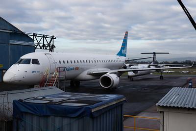 4X-EMB Arkia - Israeli Airlines Embraer ERJ-190LR cn 19000616 @ Exeter Airport / EGTE 31.12.16