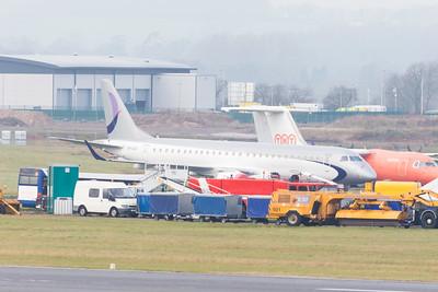 VP-CQX Ex-flynas Embraer ERJ-190LR cn 19000233 @ Exeter Airport / EGTE 31.12.16