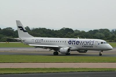 OH-LKN Finnair Embraer ERJ-190LR cn 19000252 @ Manchester Airport / EGCC 01.08.14