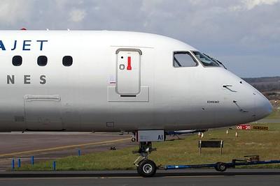 TC-YAI Borajet Embraer ERJ-190LR cn 19000201 @ Exeter Airport / EGTE 02.04.16