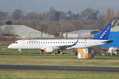 VP-CQV (TC-?) BoraJet Embraer ERJ-190LR cn 19000367 @ Exeter Airport / EGTE 16.01.15