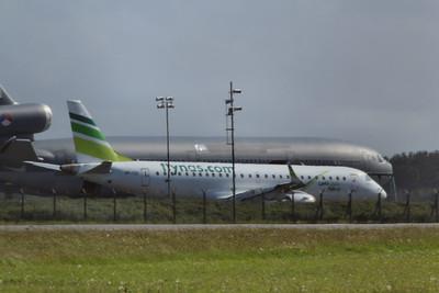 VP-CQY Ex-flynas Embraer ERJ-190LR cn 19000227 @ Newquay Airport / EGDG 06.05.14