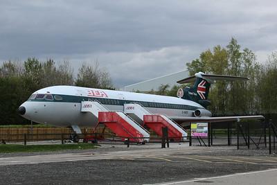 G-AWZK BEA British European Airways Hawker Siddeley HS121 3B Trident cn 2312 @ Manchester Airport Aeropark 26.04.14