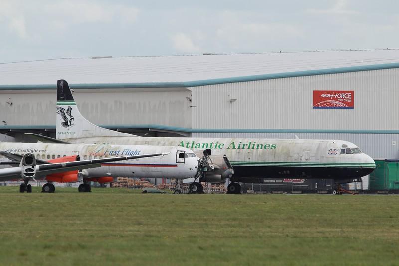 G-LOFB Atlantic Airlines Lockheed L-188CF Electra c/n 1075 @ Coventry Airport / EGBE 07.05.15