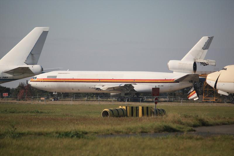 5X-JOE DAS Air Cargo McDonnell Douglas DC-10-30CF c/n 47906 stored @ Manston Airport / EGMH 16.10.11