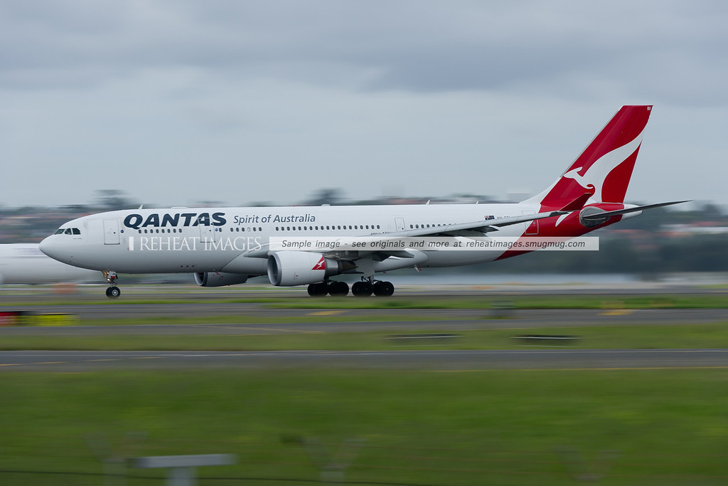 A Qantas Airbus A330-200 takes off from Sydney airport.