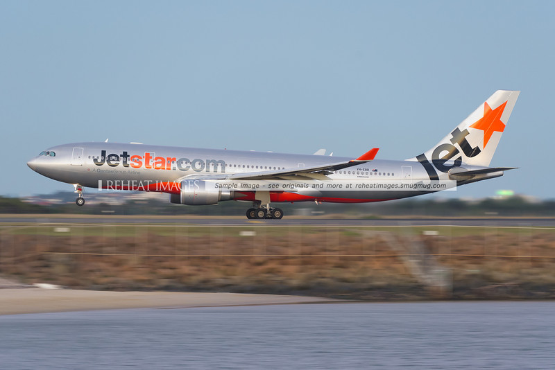 A Jetstar Airbus A330-200 aircraft takes off from runway 34 left at Sydney airport.