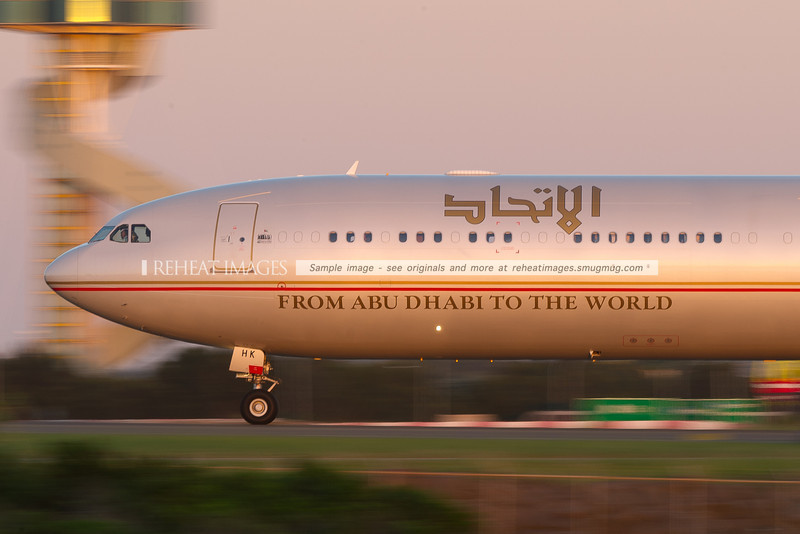 Etihad A340-600 now sporting the 40 years spirit of the union decal seen in numerous products and locations of the UAE, including Dubai TV news, Emirates A380 A6-EDD, celebrating this very special year of the UAE.
