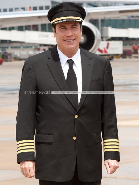 John Travolta at the Qantas 90th anniversary celebrations in Sydney.