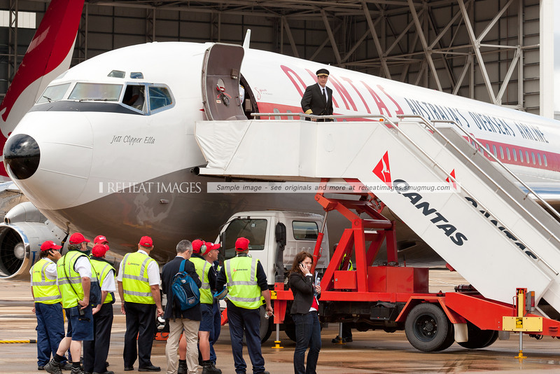 John Travolta at the Qantas 90th anniversary celebrations in Sydney.