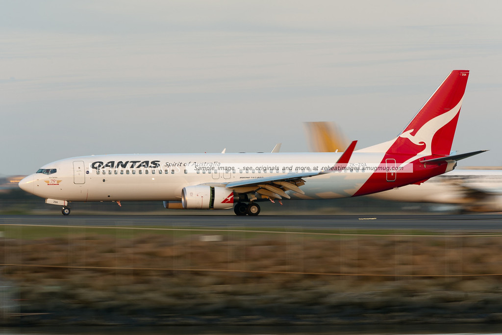 A JetConnect Boeing 737-800 at Sydney airport. This plane is the 75th Boeing 737 for Qantas JetConnect.