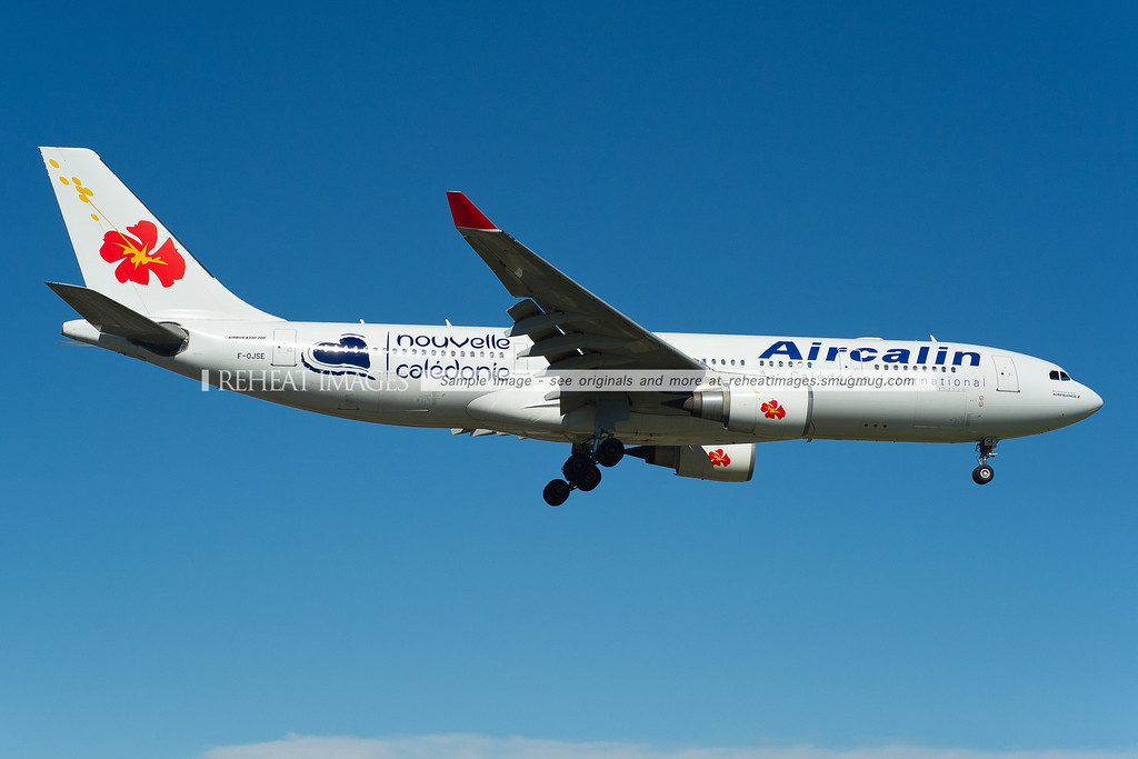 Aircalin Airbus A330 lands in Sydney wearing Nouvelle Calédonie decals.