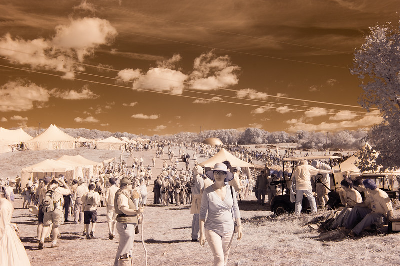 Antietam Crowds in Infrared